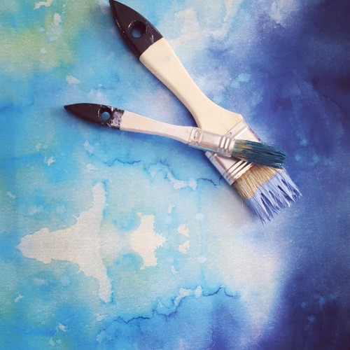 Blue Paper Brushes
