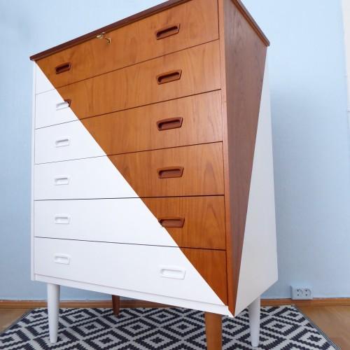 White Teak Pythagoras Dresser (8)
