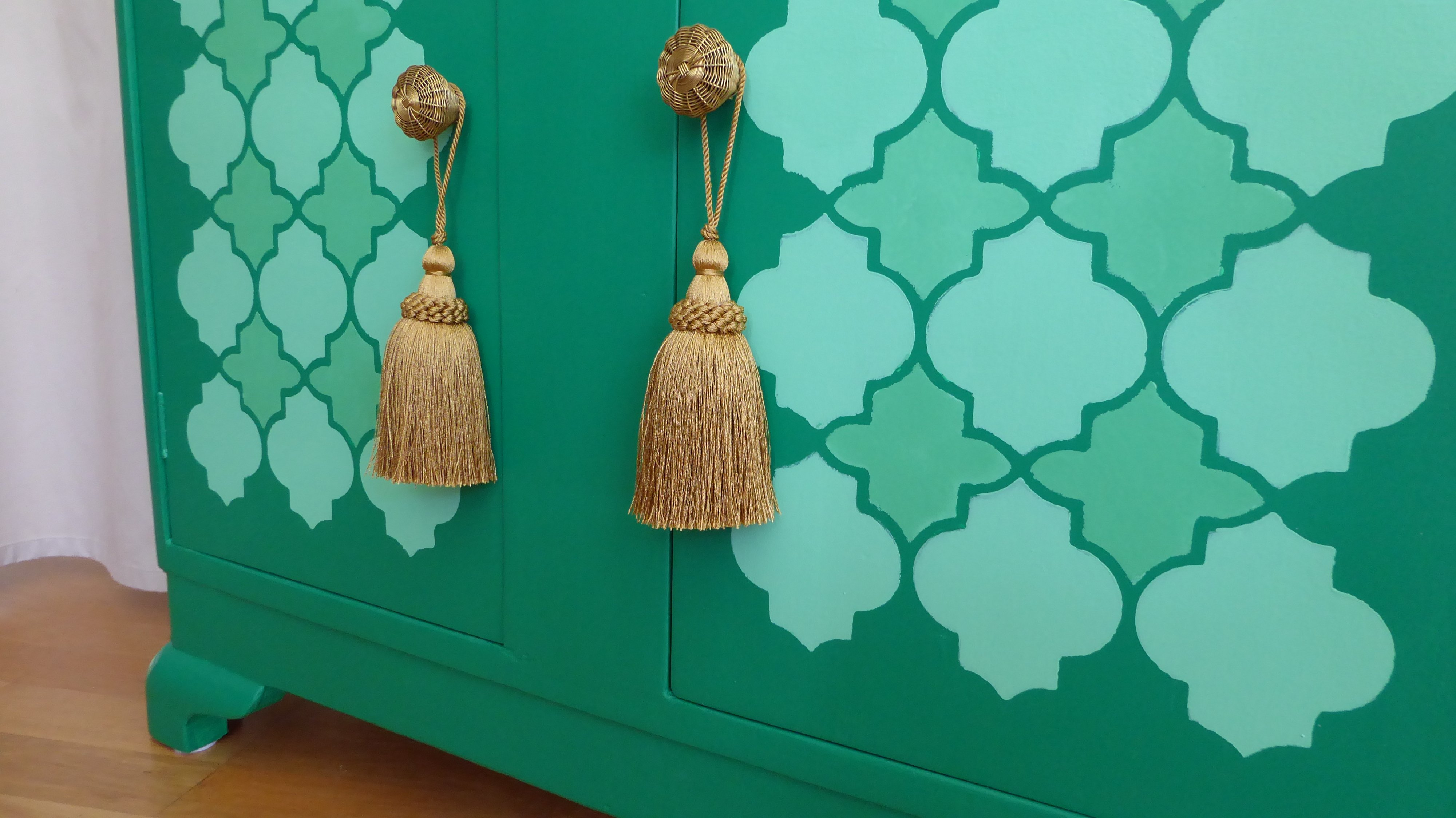 Green Moroccan Cabinet ...