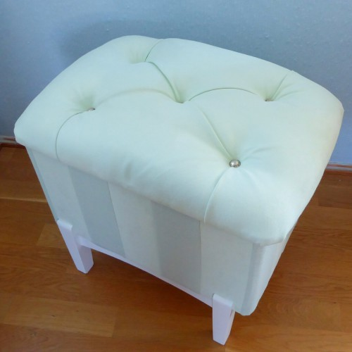 Mint Tufted Pouf