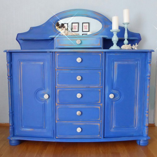 Blue Ombre Pine Buffet (6)