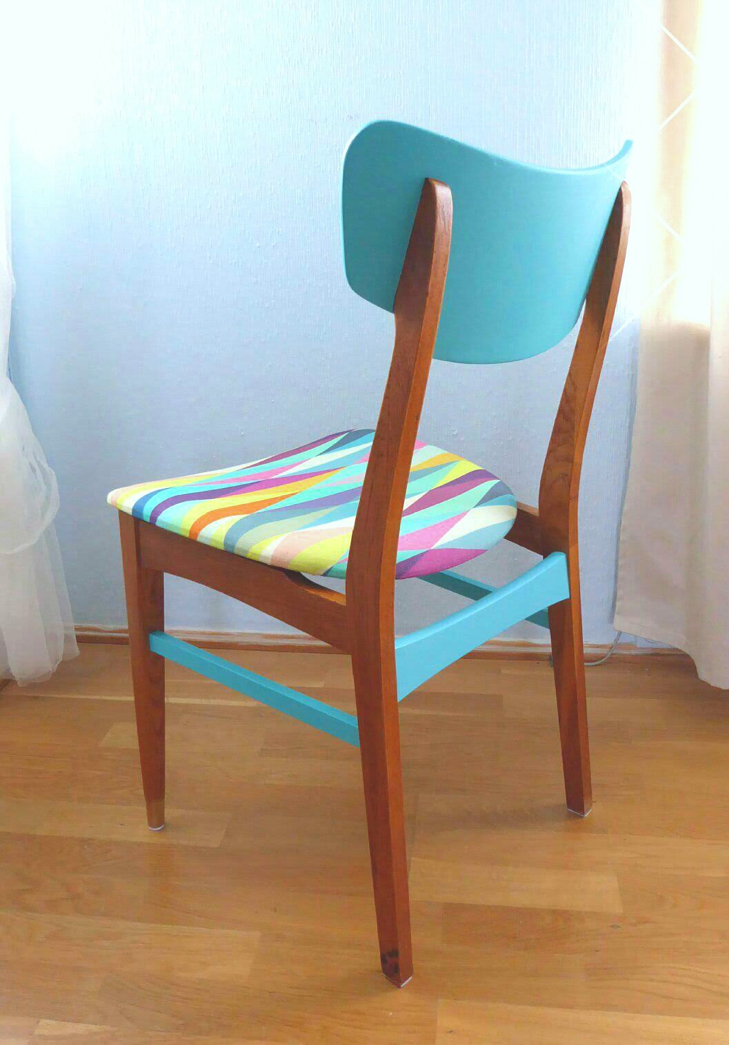 Color bomb teak chair (3) - Aleksandra\'s Furniture