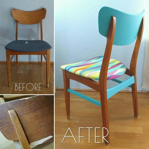 Color Bomb Teak Chair After