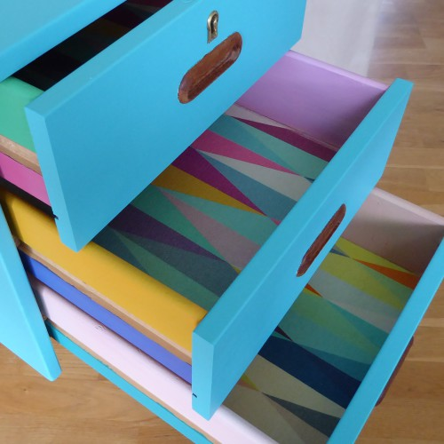 Color Bomb Teak Desk (2)