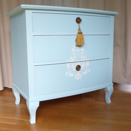 Light Blue Shabby Chic Bedroom Set (14)