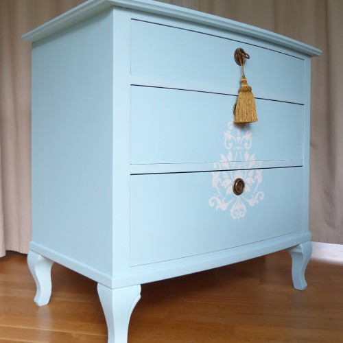 Light Blue Shabby Chic Bedroom Set (15)