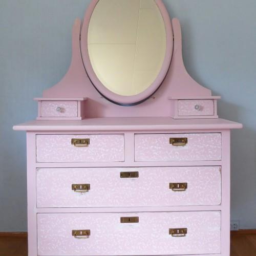 Pink Mirror Dresser (3)