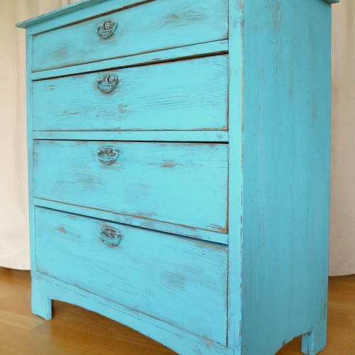 Turqoise Distressed Dresser (4)
